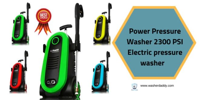 Power Pressure Washer 2300 PSI Electric pressure washer