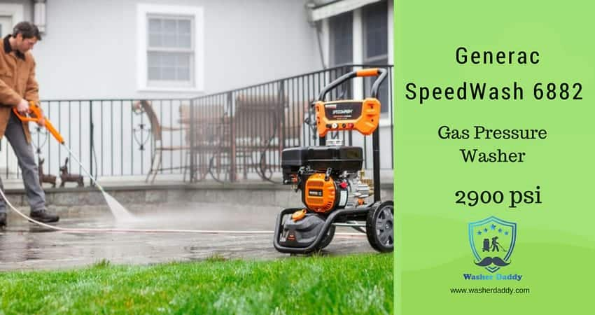 Generac SpeedWash 6882 2900 PSI 2.4 GPM Gas Pressure Washer