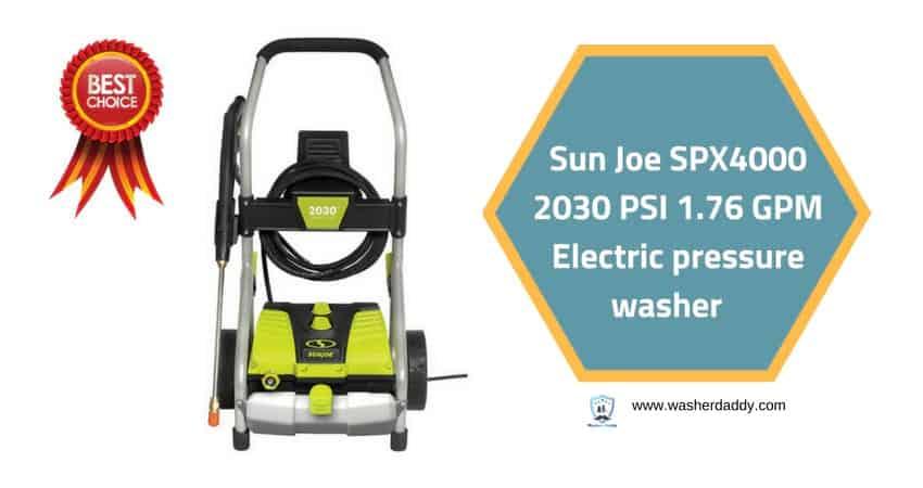 Sun Joe SPX4000 2030 PSI 1.76 GPM Electric pressure washer