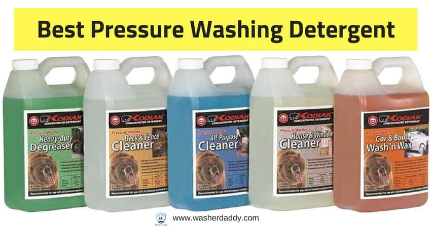 what is the best pressure washer detergent